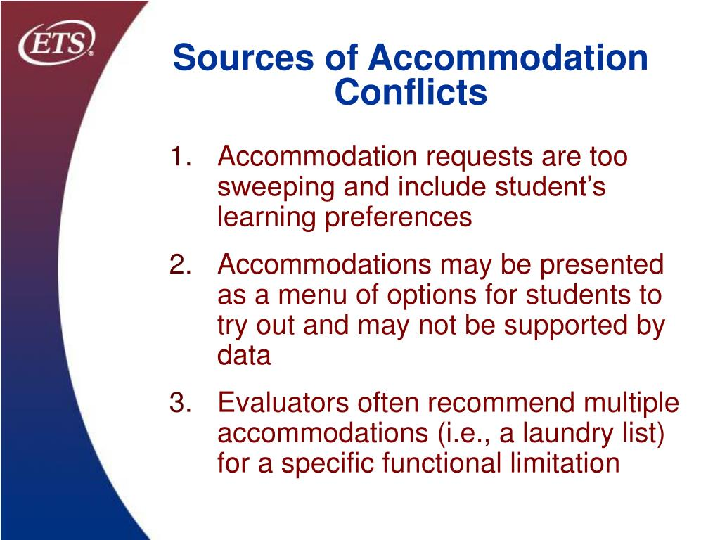 Sources of Accommodation Conflicts