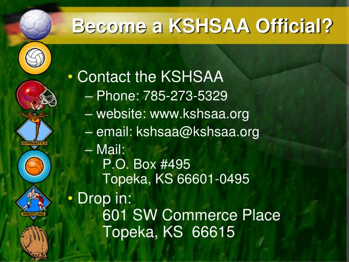 Become a kshsaa official