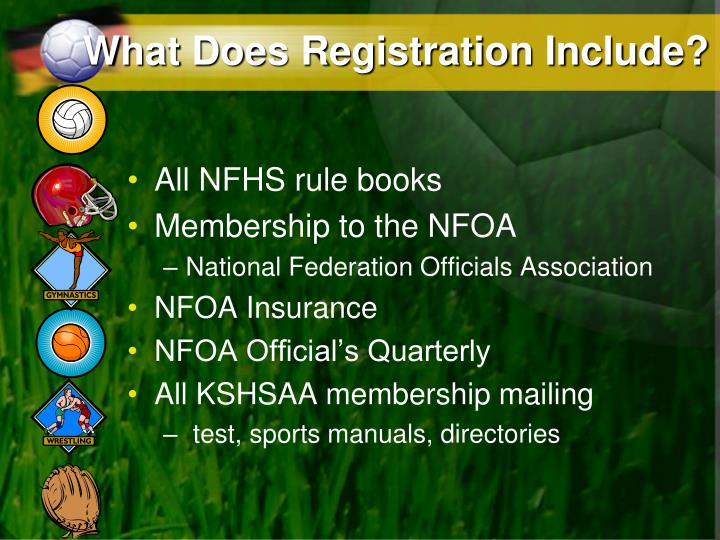 What Does Registration Include?