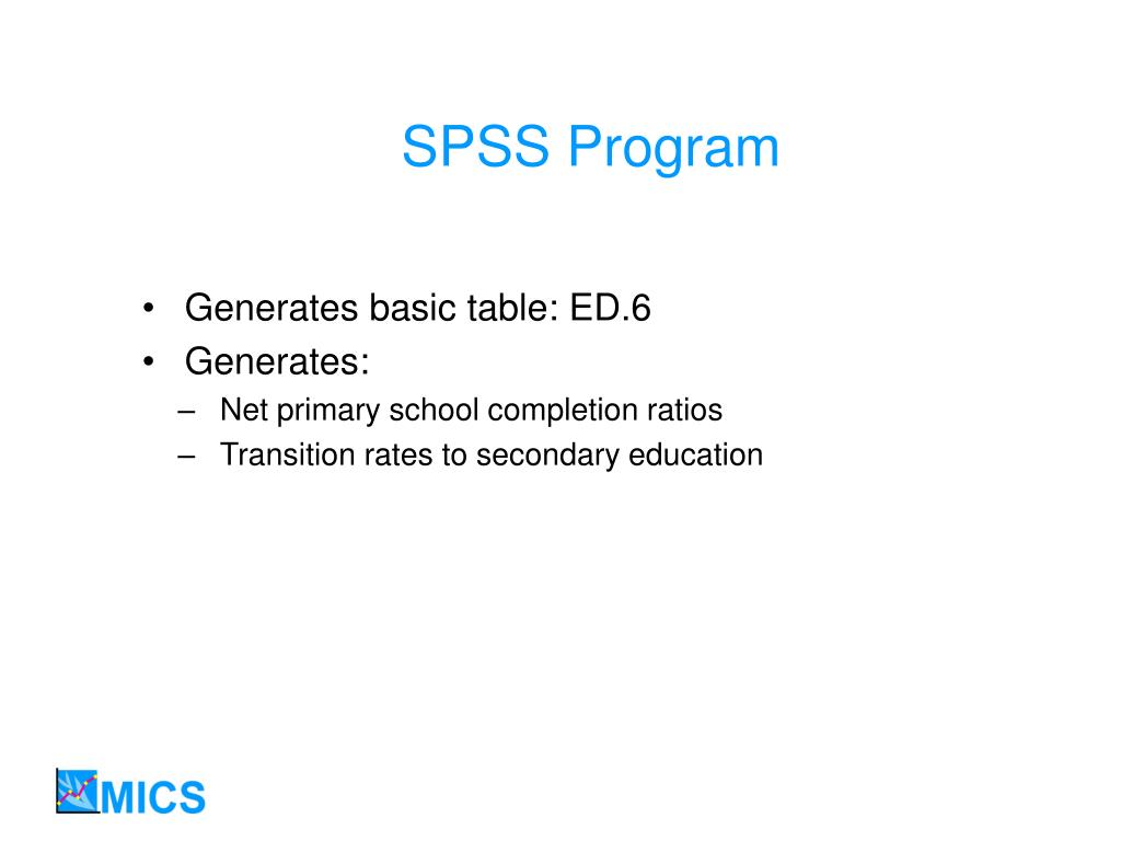 SPSS Program