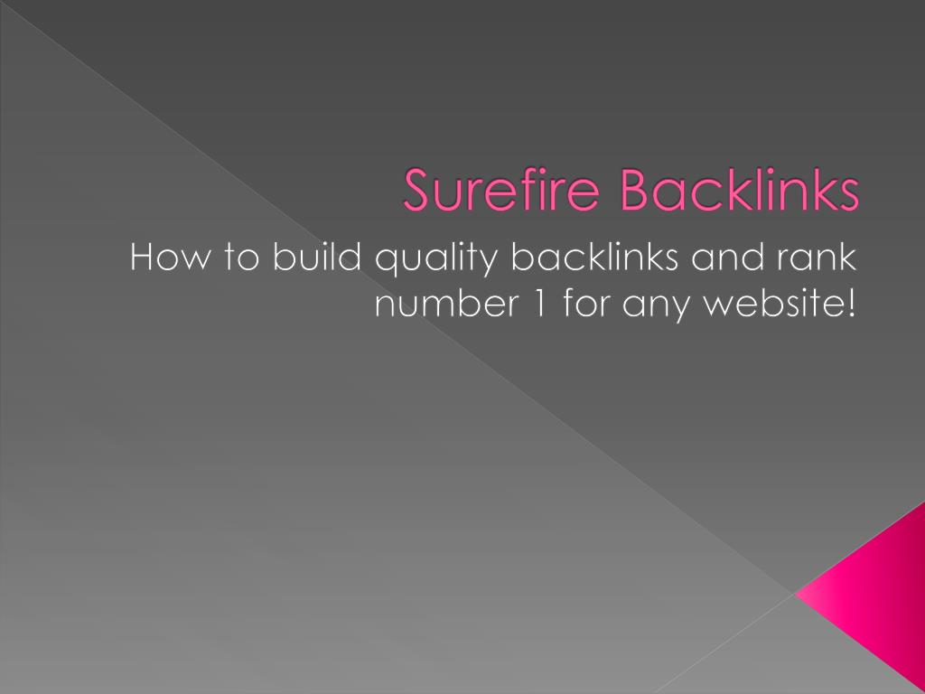 surefire backlinks l.