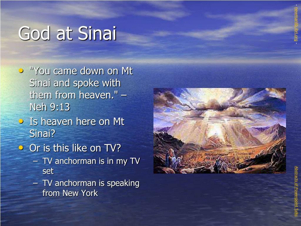 God at Sinai