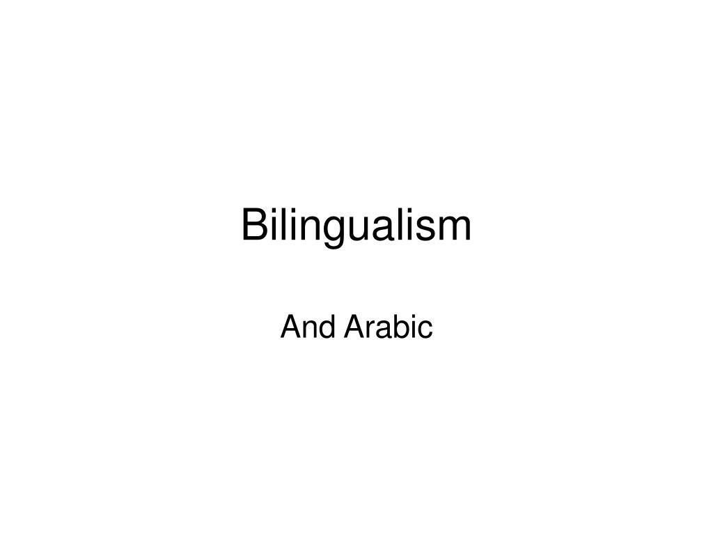 bilingualism l.
