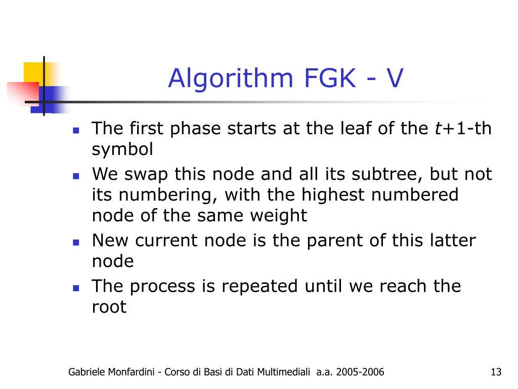 Algorithm FGK - V