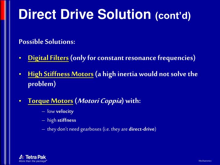 Direct Drive Solution