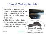 cars carbon dioxide