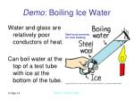 demo boiling ice water