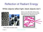 reflection of radiant energy