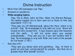 divine instruction