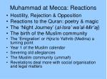 muhammad at mecca reactions
