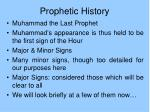 prophetic history