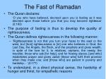 the fast of ramadan