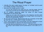 the ritual prayer46