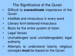 the significance of the quran