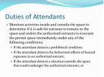 duties of attendants5