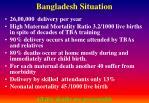 bangladesh situation