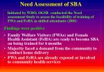 need assessment of sba