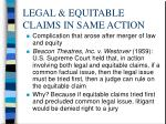 legal equitable claims in same action