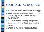 marshall a 2 part test