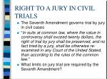 right to a jury in civil trials
