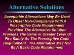 alternative solutions36