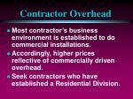 contractor overhead