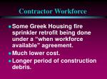 contractor workforce