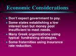 economic considerations50
