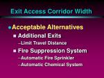 exit access corridor width39