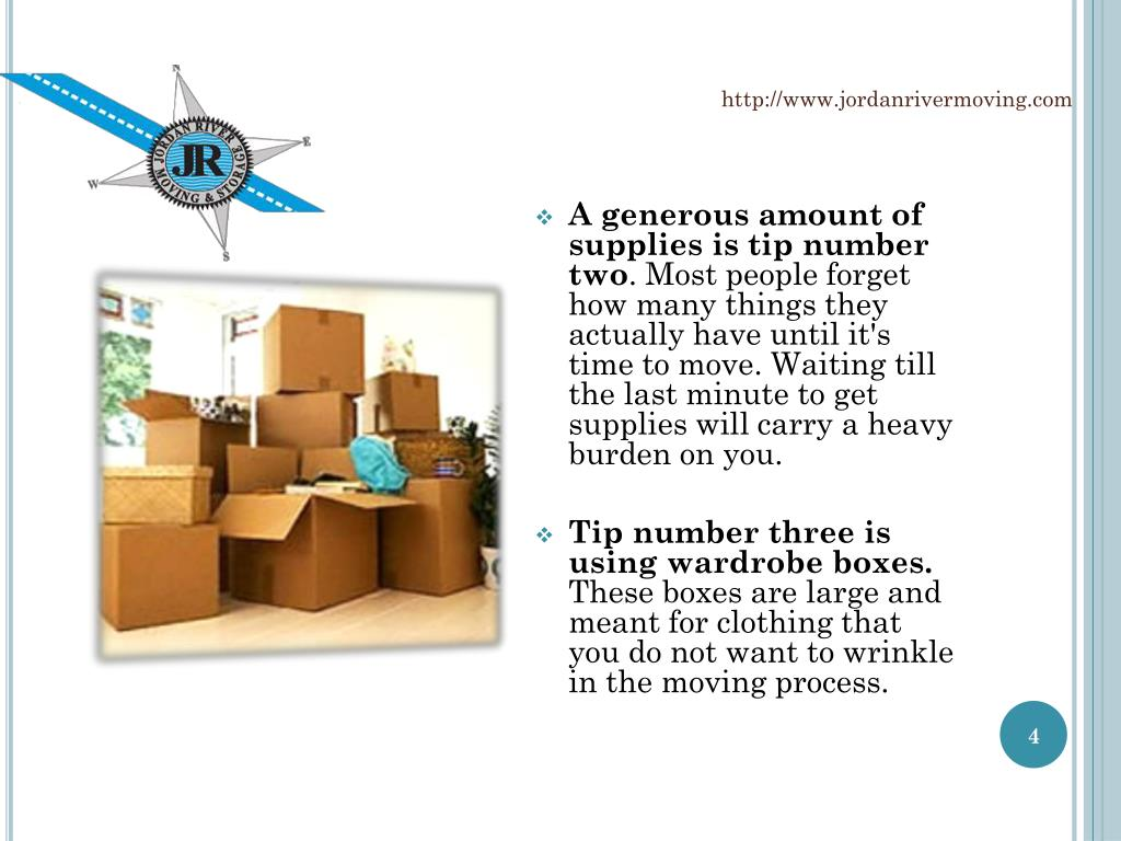A generous amount of supplies is tip number two