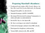 preparing marshall s readiness