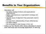 benefits to your organization