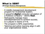 what is sbm strategic business management