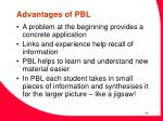 advantages of pbl
