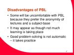 disadvantages of pbl