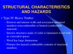 structural characteristics and hazards10