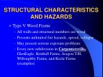 structural characteristics and hazards12