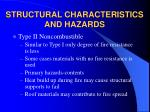 structural characteristics and hazards8
