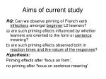 aims of current study