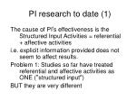 pi research to date 1
