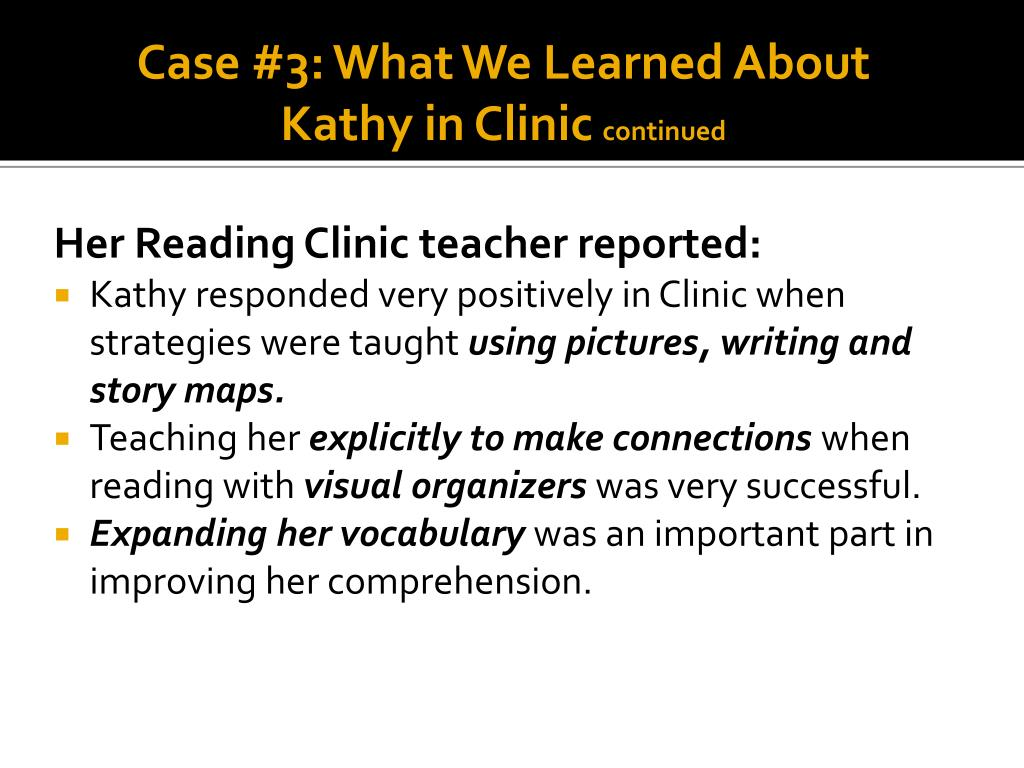 Case #3: What We Learned About Kathy in Clinic