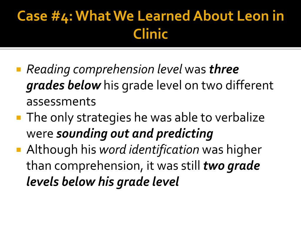 Case #4: What We Learned About Leon in Clinic
