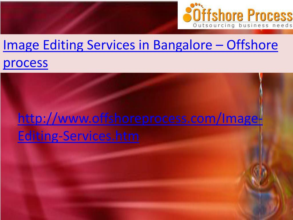 Image Editing Services in Bangalore – Offshore process