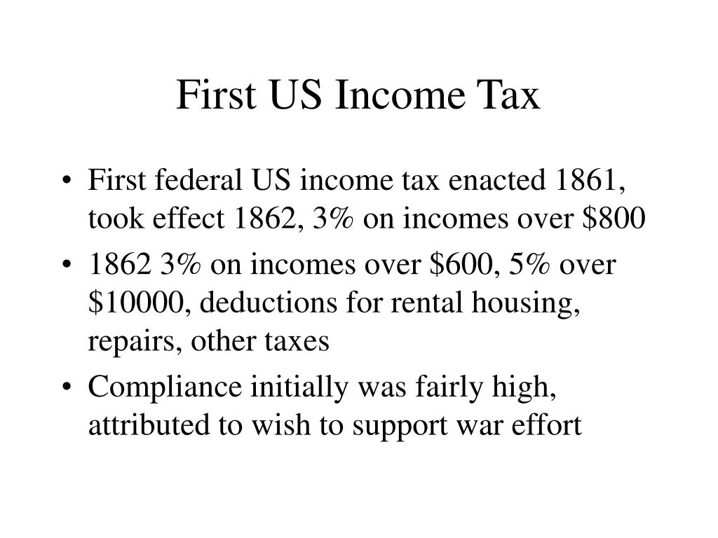 First US Income Tax