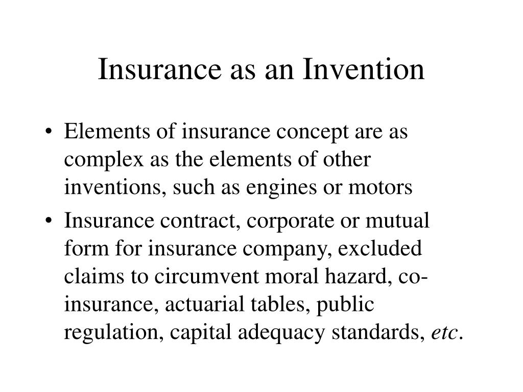 Insurance as an Invention
