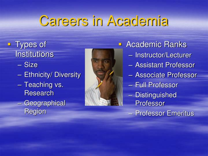 Careers in academia