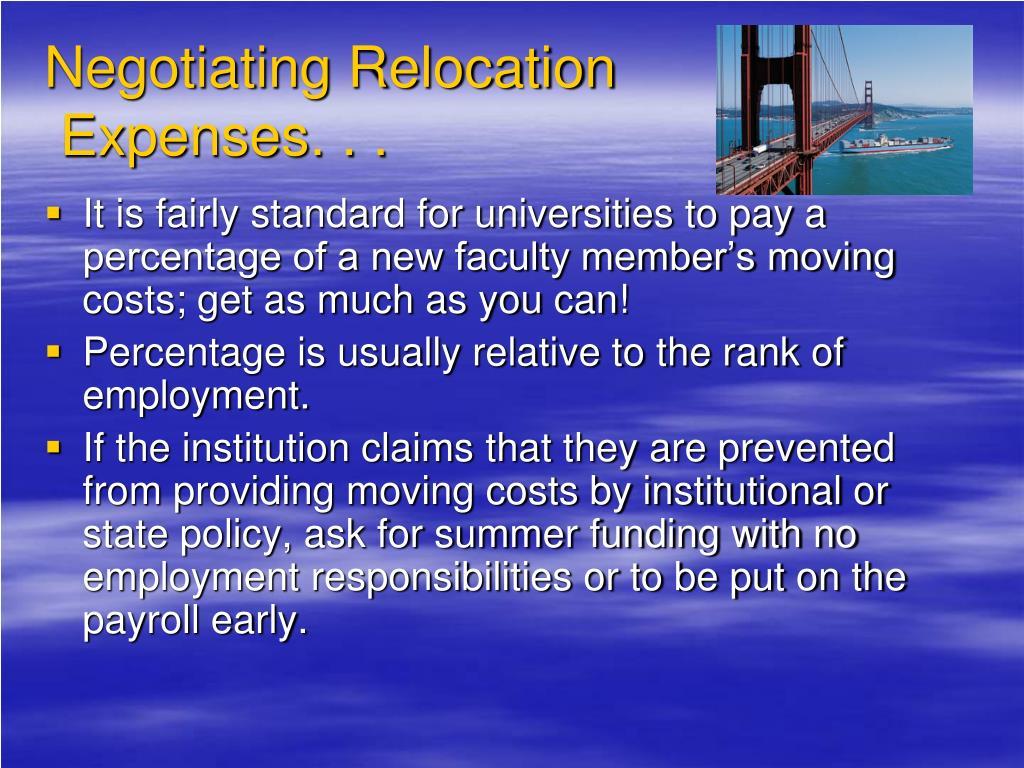 Negotiating Relocation