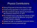 physics contributions