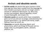 archaic and obsolete words