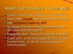 teaching procedure 1 example